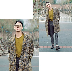 Chris Su - Zara Coat, Cos Tee, Zara Pants, Louis Vuitton Sneakers, Oliver Peoples Glasses - When the Rain Came Down