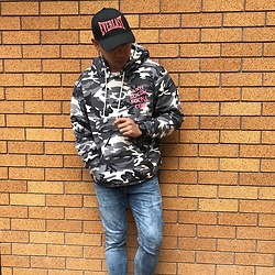 DADA FAB - Everlast Cap, Anti Social Club Hoodie Jacket, Bench Denim Pants - Anti Social Social Club