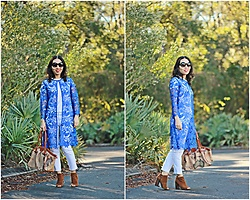 Hanh Nguyen -  - Blue Lace Duster/Long Cardigan