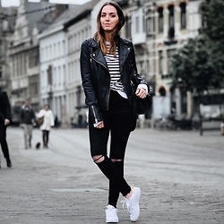Morgan Schadegg - Topshop Leather Jacket, J Brand Black Jeans - Like a tourist