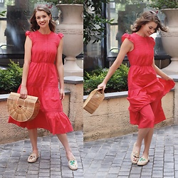Heidi Landford - Forever New Dress, Cult Gaia Gaia'S Ark Bag, French Connection Uk Espadrilles - New Go-To Dresses This Summer