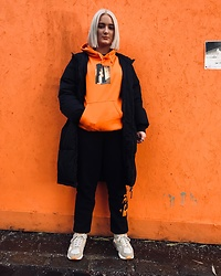 Ellie Fowler - Dark Circle Hoody, Fila Puffa Coat, Patta Joggers, Nike Trainers - THE ORANGE WALL