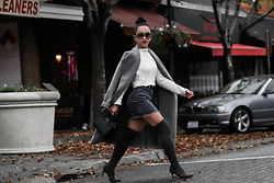 K T Reed - Forever 21 Gray Long Coat - Shades of Gray.
