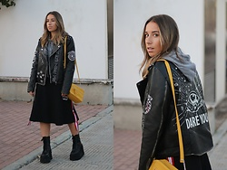 Claudia Villanueva - Pull & Bear Jacket, Ovs Bag, Zaful Skirt, Un Paso Más Boots - Badass Jacket