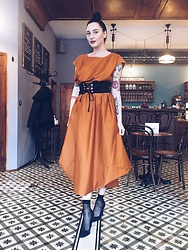 Janka Topanka - Bianca Popp Dress, Deichman Shoes, Stradivarius Belt - Maxi Dress