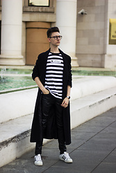 Luka Lajic - Cropp T Shirt, Thrifted Coat, H&M Pants, Adidas Sneakers - Oversized coat
