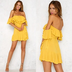 Hello Molly Love -  - Way It Is Dress Mustard