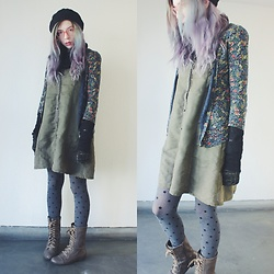 Candy Thorne - Forever 21 Boots, Axes Femme Lacy Dress, Thrifted Cardigan - Gretel