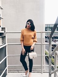 Cassey Cakes - H&M Skinny Jeans, Mango Bag, Zaful Earrings - Honey Mustard