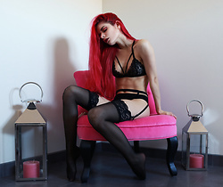 Marion Lemos - Nanika Lingerie Set And Garter Belt, My Instagram, My Last Youtube Video, More On The Blog - Hint of eternity