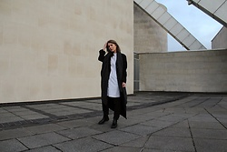 Angharad Jones - & Other Stories Shirt, Alexander Mcqueen Coat, Asos Scarf, Asos Jeans, Dr Martens Boots - Modern Tailoring