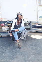 Kenesha Trenea - H&M Denim Jackets, Forever 21 Wrap Dress, American Apparel Body Suit, Steve Madden Lace Up Booties - Nobody's Perfect