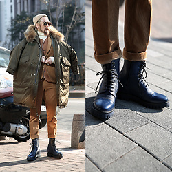 INWON LEE - Guidomaggi Boots, Byther Field Jacket - Street Daily Look
