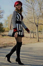 Elisabeth Green - Zaful Cardigan, Zaful Hat - Stripes Cardigan