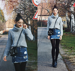 Nora Aradi - Topshop Bag, Forever 21 Boots, Choies Skirt - Winter coziness