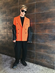 Peter Jones - Asos Blazer, Acne Studios Trainers, Acne Studios Top, Acne Studios Sunglasses - Orange is the new black