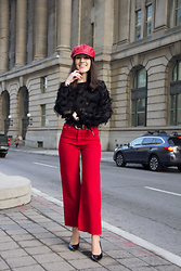 Carolina Pinglo - Romwe Blouse, Zara Pants, Shein Hat - Peacock Feather Blouse