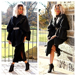 TOMGFASHION COM - Dkny Oversized Coat, Aldo Belt - MOOD