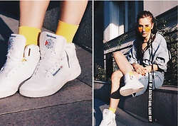 Izabella - Reebok Shoes, Bershka Belt - Yellow Jeans