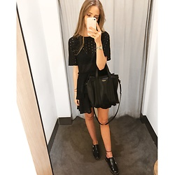 Nikki S - Balenciaga Bag - Eyelet Dress