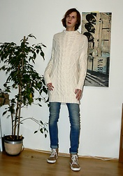 Ziri K - Zara Long Cardigan, Humanic Winter Shoes - Be warm with Zara knits