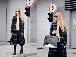 Lisa - Zaful Coat, Metisu Sweater, Asos Bag, Zara Boots - Black&camel