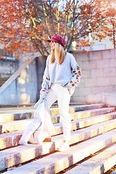 Martha Lozano - Mango Cap, Pull & Bear Knit, Pull & Bear Pants, Superga Sneakers, Zaful Coat - No me vendas la moto