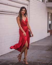 Jyotsna -  - Holiday red dress