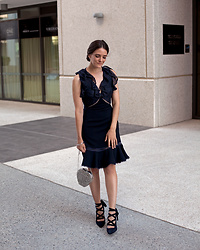 Jenelle Witty - Keepsake The Label Navy Dress - NAVY RUFFLE DRESS