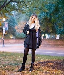 Amelia Burns - Timberland Jacket, Timberland Heeled Booties - Mixed Feelings