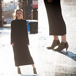 Alexandria Deanne - Zara Dress, Zara Booties - Back in Black