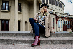 LYNN Nina - H&M Backerboy Hat, Pull & Bear Sweater, Lee Jeans, Zara Boots - Wish u the best