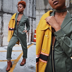 Alicia Nicholls - Artistix Fashion Flight Jumpsuit, Artistix Fashion Harvest Fireman's Coat - Ready for Takeoff