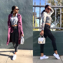 Shanell Holland - Aeropostale Purse, H&M Sneakers, H&M Button Up - Movie day