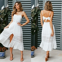 Hello Molly Love -  - Summer In Monte Carlo Maxi Dress White