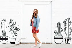 Kelly Anne - Converse, Supre Polka Dot Sundress, Assembly Denim Jacket - Summer Evenings