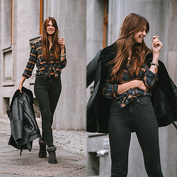 Jacky - Lee Jeans, Levi's® Boots -  How to wear an oversized plaid shirt