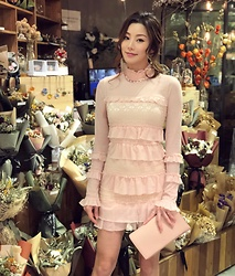 Wiyona Yeung - Guess Pink Onepiece - Girly look.