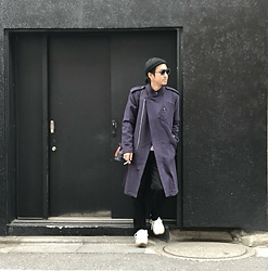 Hideki. Mn - Ca4la Beanie, Kuboraum New Maske E3 Limited Edition, N.Hoolywood Trench Coat, Ponds Leather Bag, Minus 2tuck Denim Slack, Puma × Han Kjobenhavn Tsugi Kori - Japanese fashion 50