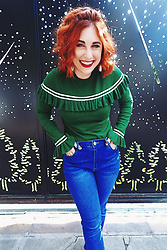 Erin Ashley Goldman - Forever 21 Ruffle Sweater, Forever 21 High Waisted Jeans - Finding Confidence At Age 28