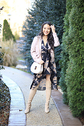 Kimberly Kong - Charlotte Russe Blush Jacket, Stuart Weitzman Beige Boots - Re-mixing my $15 Blush Jacket for the Umpteenth Time