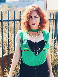 Erin Ashley Goldman - Furst Of A Kind Cut Out Top, American Apparel Black Denim Jeans, Forever 21 Bustier, Vintage Necklace - How To Cope With Holiday Depression