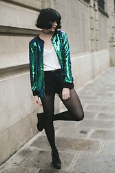 Mahayanna . M - Gamiss Sequined Bombers Jacket - Lemanja