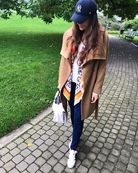 Marlena Laura @marlenalaura - Aldo Scarf, Adidas Trainers, Promod Jeans, Longchamp Bag - Casual