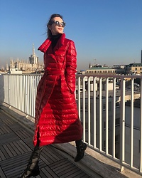 Anastasiia Masiutkina - Moongoose Coat - Don't be shy wear red