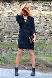 An Koko - Ankoko Couture Black Fringe Dress - Fringes rock