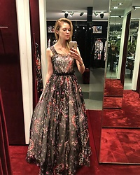 Anastasiia Masiutkina - Dolce & Gabbana Dress - New Year's Eve Dress