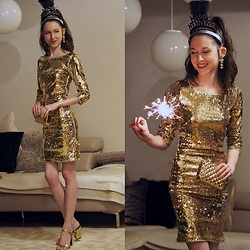 Claire H - Bik Bok Sequin Dress, H&M Heels - HAPPY 💫 NEW 🍾 YEAR 🎉