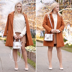 Natalia Piatczyc - Zaful Beige Oversize Sweater, Zaful Camel Coat - Carmel winter