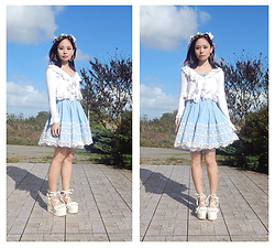 Nowaki Selenocosmia - Liz Lisa Ll Blue Dress, White Bolero, Liz Lisa Ll Platform - Like a fairy